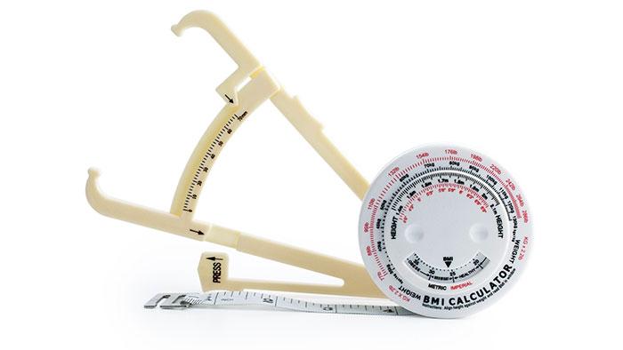 Details about 2pc Body Fat Caliper Mass Measuring Tape BMI Calculator  Weight Loss Muscle Chart